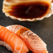 Sushi with soy sauce — Stock fotografie
