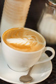Cappuccino on the table — Stock Photo
