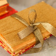 Gift wrapped books for Christmas — Photo