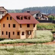 Stock Photo: Unfinished wooden house