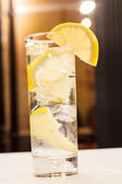 Cocktail with lemon — Stock Photo