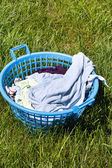 Laundry basket — Stock Photo