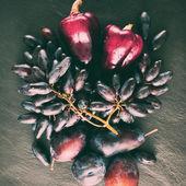 Púrpuras frutas y verduras — Foto de Stock