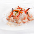 Noodles with shrimps — Stock Photo