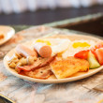 Breakfast in the hotel — Stock Photo