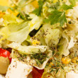 Stock Photo: Vegetable salad with feta