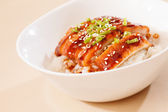 Eel on rice,unaju, japanese unagi cuisine — Stock Photo