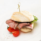 Burger with beef — Stock Photo