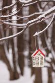 Lantern in the snow — Stock Photo