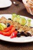 Eggplant rolls — Stock Photo