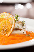 Fish with orange — Foto Stock