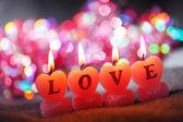 Romantische kerzen — Stockfoto