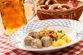 Meatballs with potatoes — Stock Photo