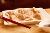 Jiaozi - Chinese dumplings — Stock Photo