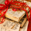 Gift wrapped books for Christmas  — Stock Photo
