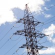 High voltage tower at sky — Stock Photo