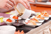 Sushi on the table — Stock Photo
