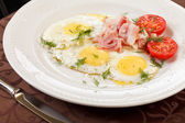 Eggs with bacon — Stock Photo