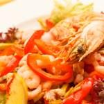 Shrimp salad — Stock Photo