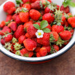 Strawberries in the dish — Stock Photo