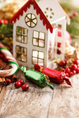 Christmas decoration with candy — Stock Photo