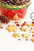 Christmas cookies with a basket — Foto Stock