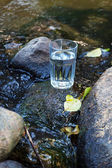 Clean water and rocks — Photo