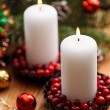 Christmas decorations with candles — Photo