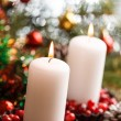 Christmas decorations with candles — Lizenzfreies Foto