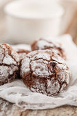 Christmas chocolate cookies — Stock fotografie