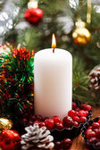 Christmas decorations with candles — Stockfoto