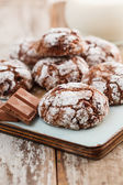 Christmas chocolate cookies — Foto de Stock