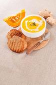 Pumpkin cream soup — Stock Photo
