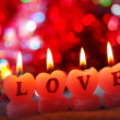 Foto Stock: Romantic candles