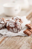 Christmas chocolate cookies — Stockfoto