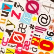 Stock Photo: Colorful letters