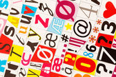 Colorful letters — Stock Photo
