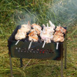 Stock Photo: Grilled chicken