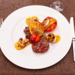 Stock Photo: Grilled steak with potatoes
