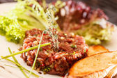 Beef tartar — Stock Photo