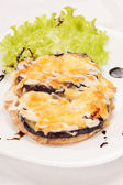 Meat with aubergine — Stock Photo