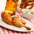 Chicken with beer — Stock Photo