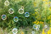 屋外のシャボン玉 — ストック写真