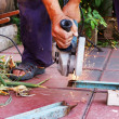 Stock Photo: Metal sawing