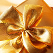 Stock Photo: Present with gold bow