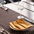 Stock Photo: Tables set for meal