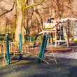 Playground in the park — Stock Photo