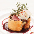 Fillet Wellington with fresh herbs — Zdjęcie stockowe