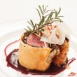 Fillet Wellington with fresh herbs — Photo