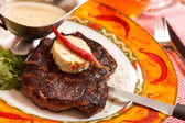 Beef Steak with Butter — Stock Photo